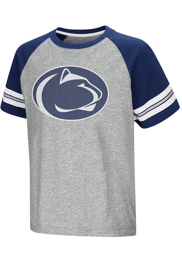 Colosseum Penn State Nittany Lions Youth Grey Bertram Short Sleeve T-Shirt - Image 1