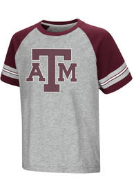 Colosseum Texas A&M Aggies Youth Grey Bertram T-Shirt