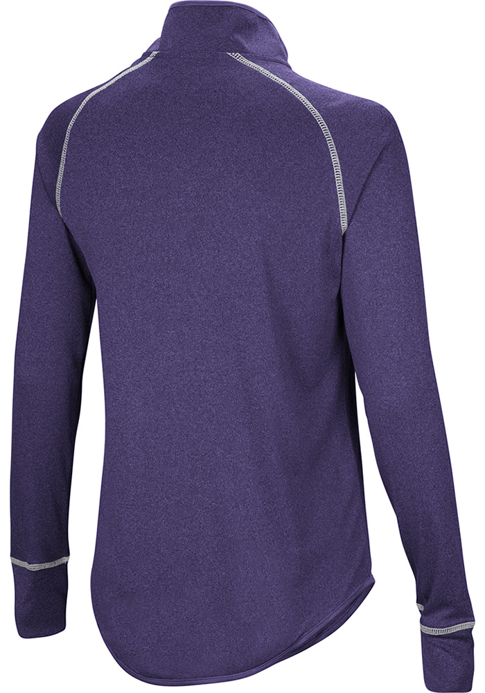 Colosseum K-State Wildcats Womens Purple Kit 1/4 Zip Pullover - Image 2