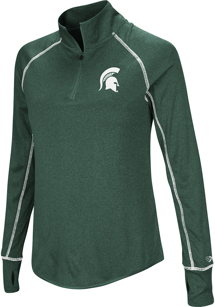 Colosseum MSU Womens Green Kit 1/4 Zip Pullover - Image 1