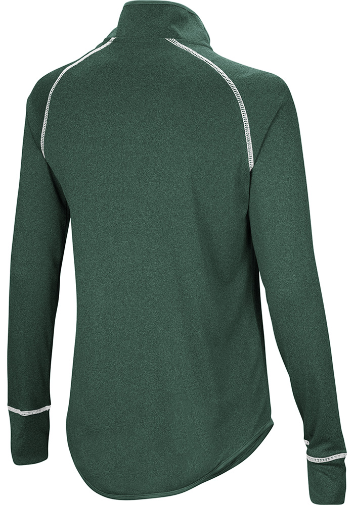 Colosseum MSU Womens Green Kit 1/4 Zip Pullover - Image 2