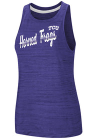 TCU Horned Frogs Womens Colosseum Kenosha Comets Tank Top - Purple
