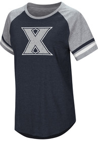 Colosseum Xavier Musketeers Womens Navy Blue Blue Sox T-Shirt