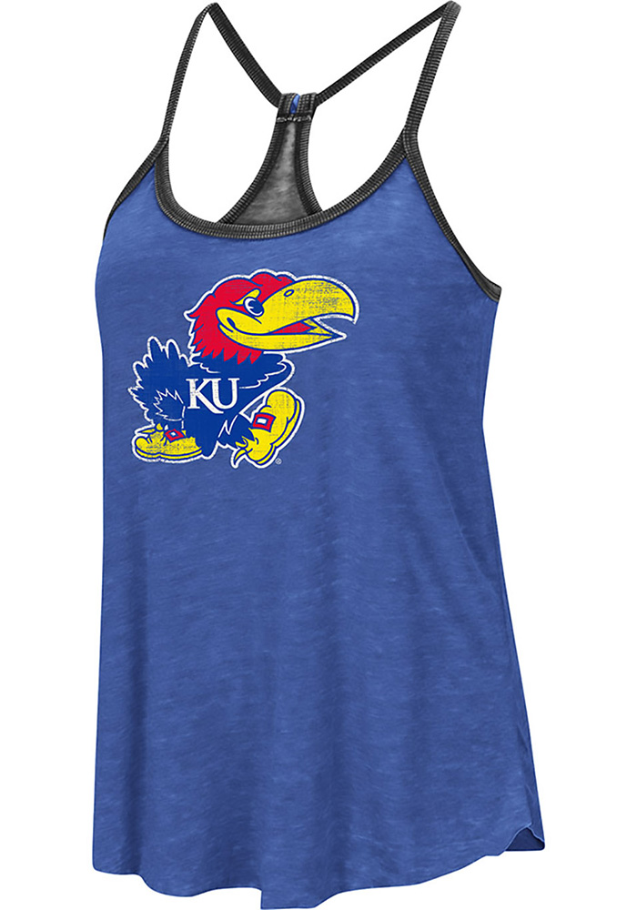 Colosseum Kansas Jayhawks Womens Blue Clearly Inside Tank Top - Image 1