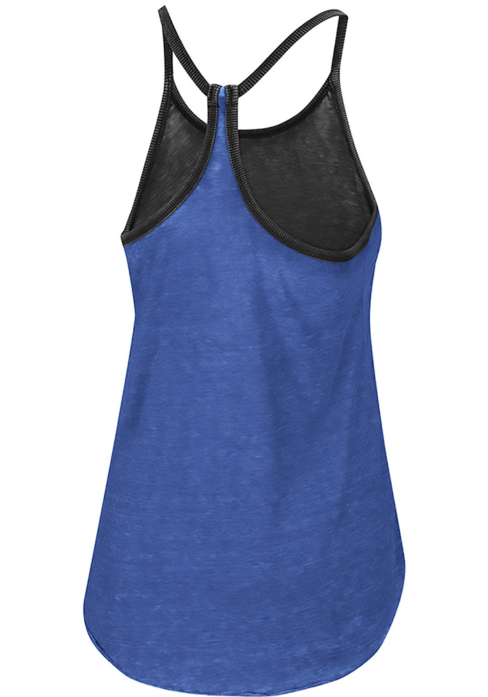 Colosseum Kansas Jayhawks Womens Blue Clearly Inside Tank Top - Image 2
