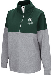 Colosseum Michigan State Spartans Womens Green Breakthrough 1/4 Zip Pullover