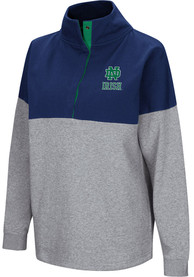 Notre Dame Fighting Irish Womens Colosseum Breakthrough 1/4 Zip Pullover - Navy Blue