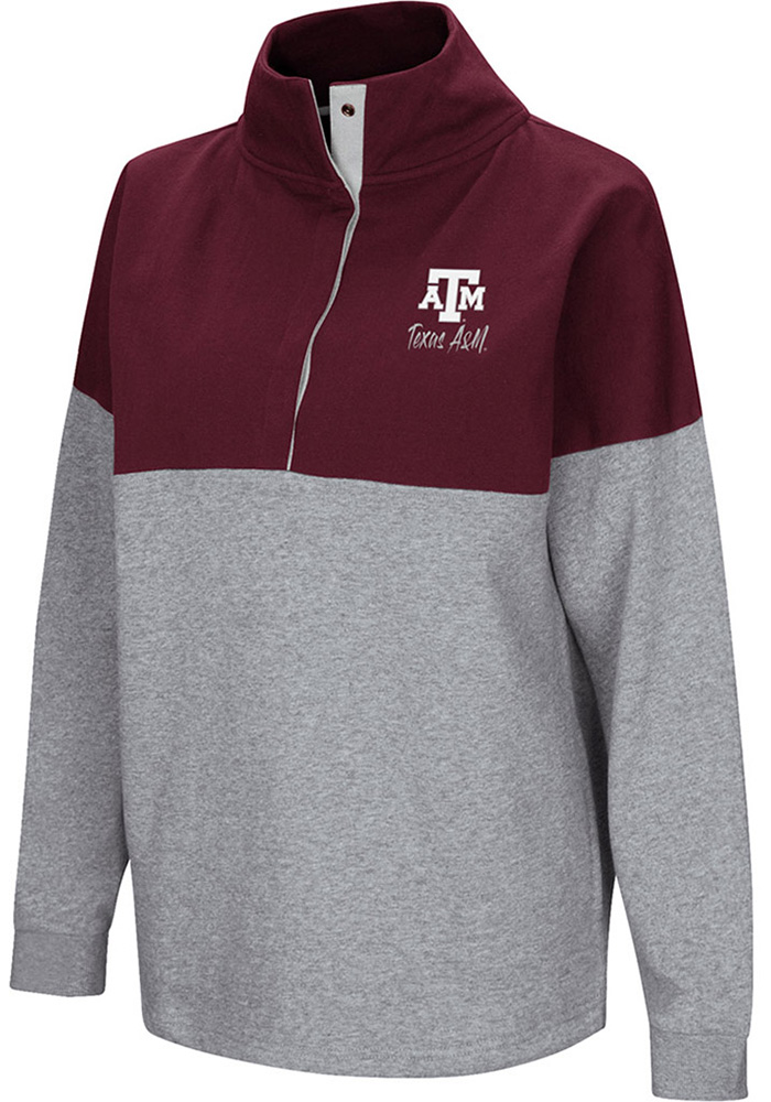 Colosseum Texas A&M Aggies Womens Maroon Breakthrough 1/4 Zip Pullover - Image 1
