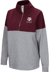 Texas A&M Aggies Womens Colosseum Breakthrough 1/4 Zip Pullover - Maroon