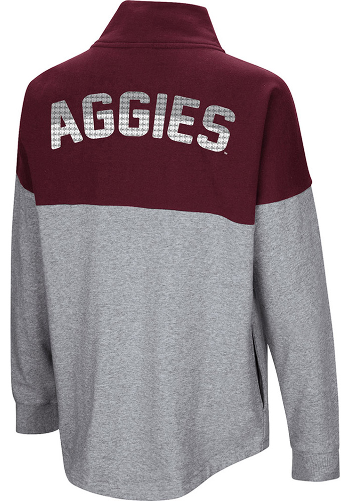 Colosseum Texas A&M Aggies Womens Maroon Breakthrough 1/4 Zip Pullover - Image 2
