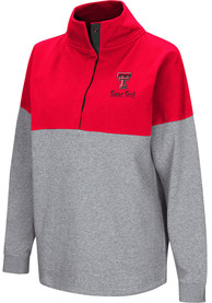 Texas Tech Red Raiders Womens Colosseum Breakthrough 1/4 Zip Pullover - Red