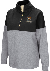 Western Michigan Broncos Womens Colosseum Breakthrough 1/4 Zip Pullover - Black