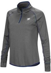 Colosseum Akron Zips Womens Charcoal Shark 1/4 Zip Pullover