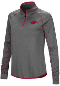 Arkansas Razorbacks Womens Colosseum Shark 1/4 Zip - Charcoal