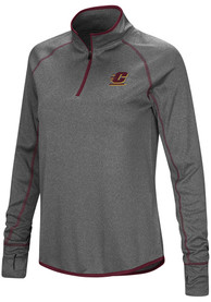 Central Michigan Chippewas Womens Colosseum Shark 1/4 Zip - Charcoal