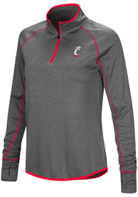 Cincinnati Bearcats Womens Colosseum Shark 1/4 Zip - Charcoal