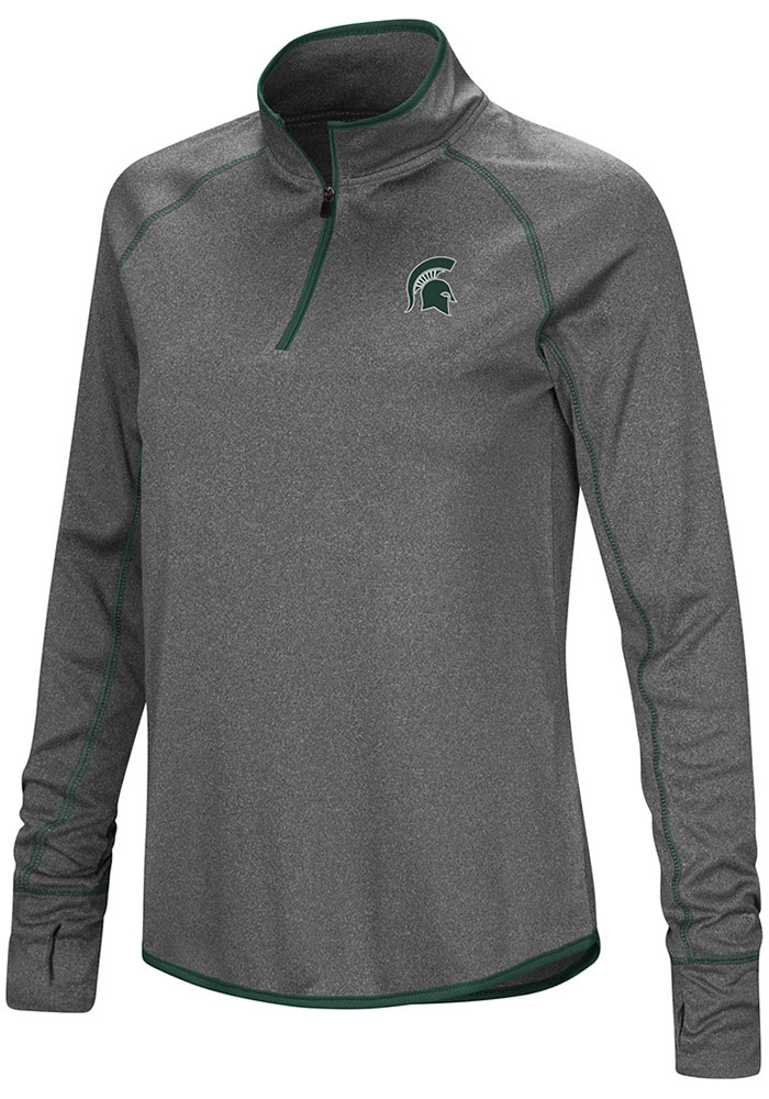 Colosseum MSU Womens Charcoal Shark 1/4 Zip Pullover - Image 1