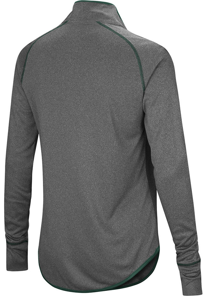 Colosseum MSU Womens Charcoal Shark 1/4 Zip Pullover - Image 2