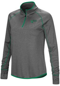 North Texas Mean Green Womens Colosseum Shark 1/4 Zip - Charcoal