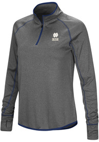 Notre Dame Fighting Irish Womens Colosseum Shark 1/4 Zip - Charcoal