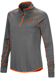 Oklahoma State Cowboys Womens Colosseum Shark 1/4 Zip - Charcoal