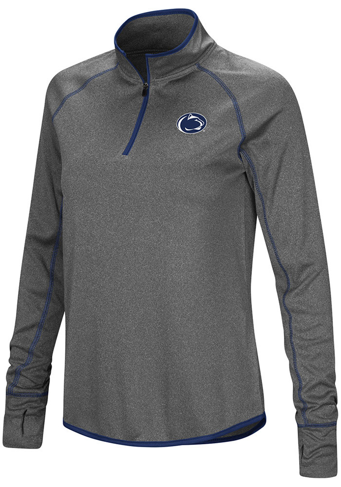 Colosseum Penn State Womens Charcoal Shark 1/4 Zip Pullover - Image 1
