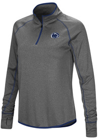 Penn State Nittany Lions Womens Colosseum Shark 1/4 Zip - Charcoal