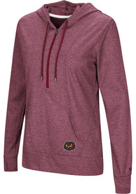 Temple Owls Womens Colosseum Sugar 1/4 Zip - Red