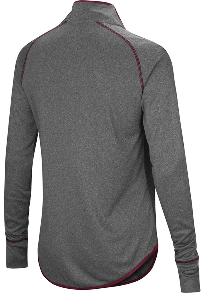 Colosseum Texas A&M Womens Charcoal Shark 1/4 Zip Pullover - Image 2