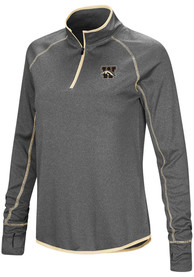 Western Michigan Broncos Womens Colosseum Shark 1/4 Zip - Charcoal