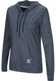 Xavier Musketeers Womens Colosseum Sugar 1/4 Zip - Navy Blue