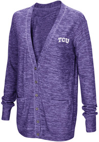 TCU Horned Frogs Womens Colosseum Had Me At Hello Cardigan - Purple