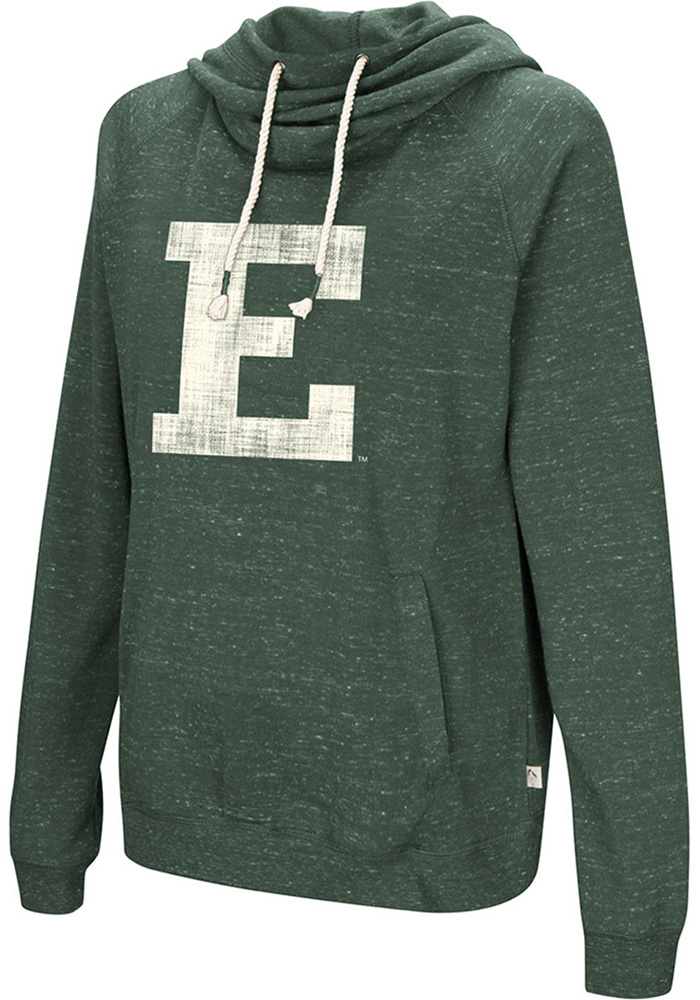 Colosseum Eastern Michigan Eagles Womens Green I'll Go With Hooded Sweatshirt - Image 1