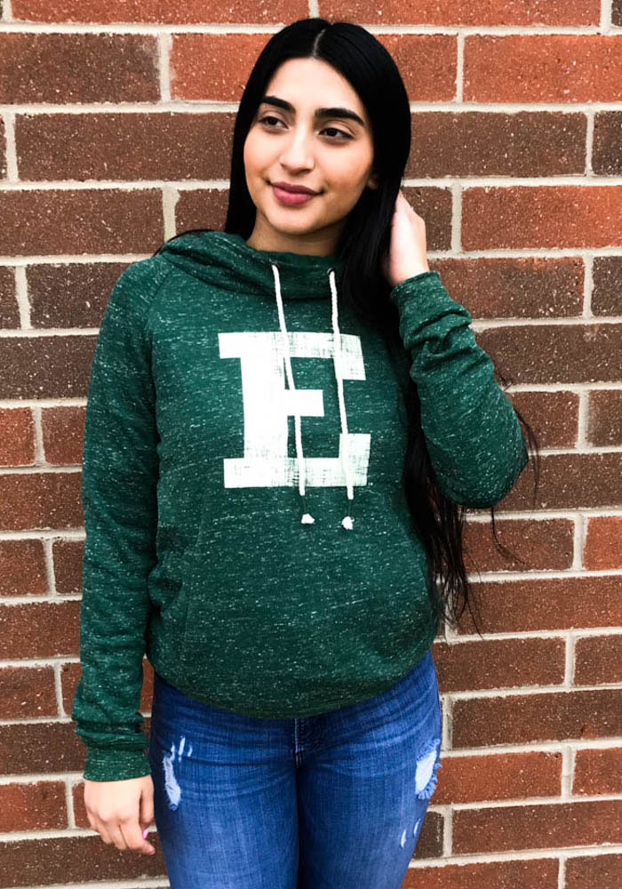 Colosseum Eastern Michigan Eagles Womens Green I'll Go With Hooded Sweatshirt - Image 2