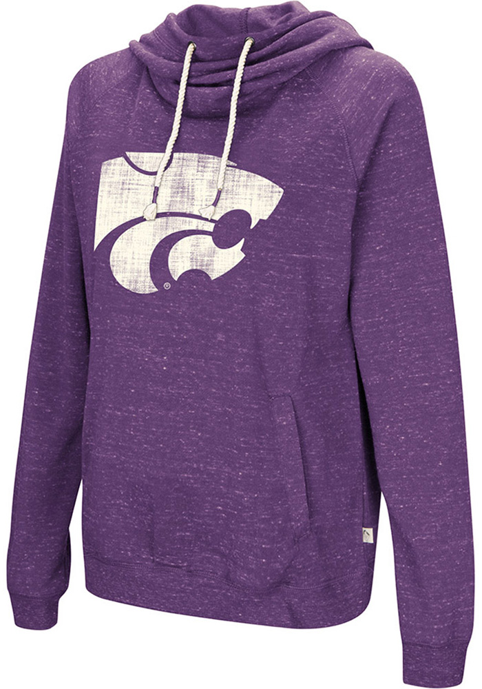 Colosseum K-State Wildcats Womens Purple I'll Go With Hooded Sweatshirt - Image 1
