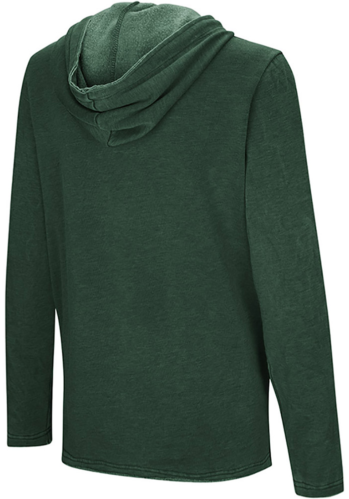Colosseum Michigan State Spartans Womens Green Journey Hooded Sweatshirt - Image 2
