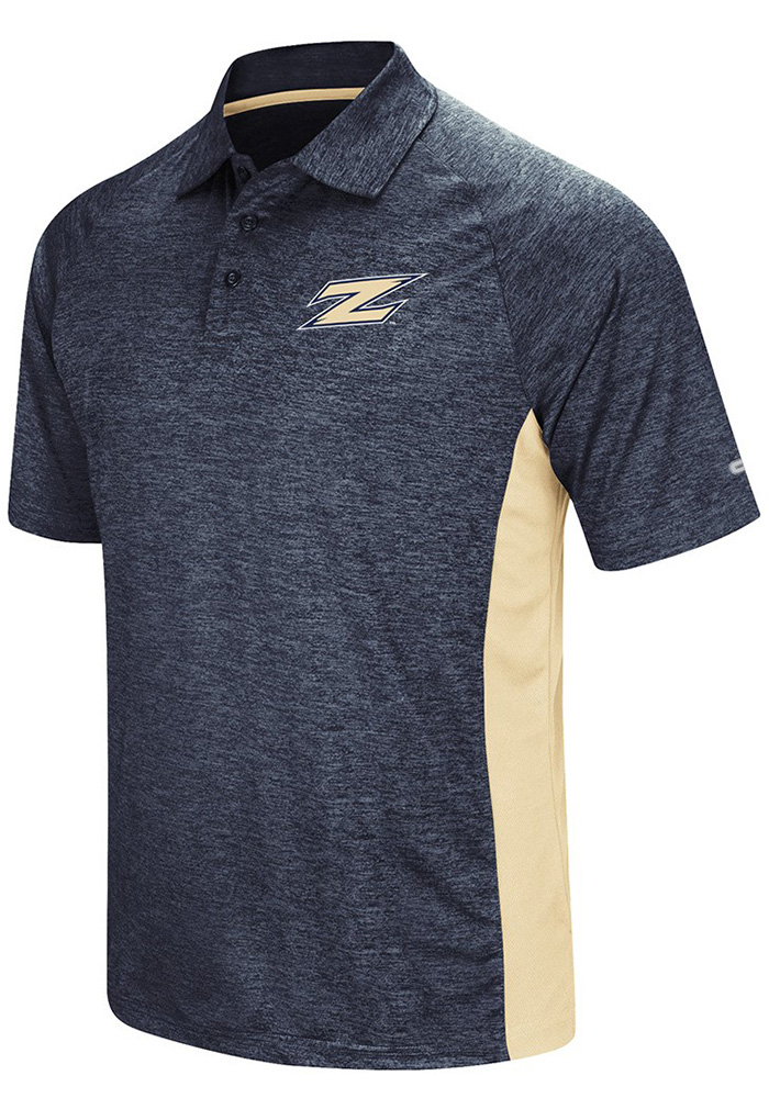Colosseum Akron Zips Mens Navy Blue Wedge Short Sleeve Polo - Image 1