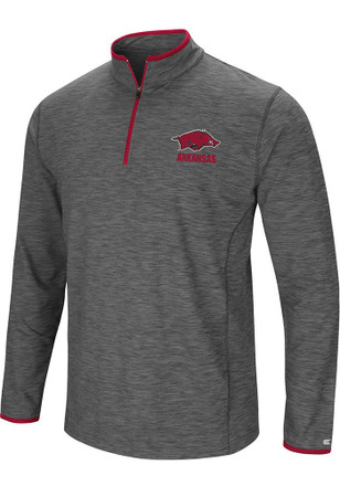 Colosseum Arkansas Razorbacks Mens Grey Diemert 1/4 Zip Pullover