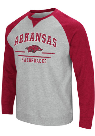 Colosseum Arkansas Razorbacks Mens Grey Turf Fashion Sweatshirt