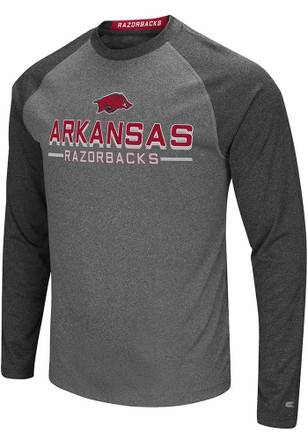 Colosseum Arkansas Razorbacks Mens Grey Ultra Fashion Tee
