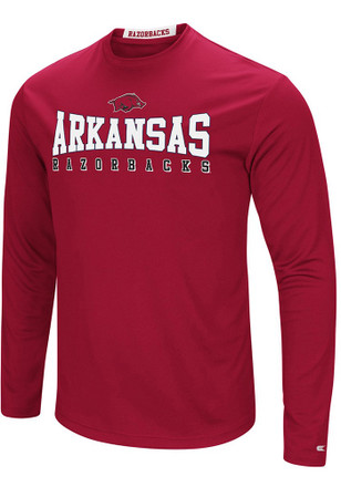 Colosseum Arkansas Razorbacks Mens Cardinal Streamer Tee