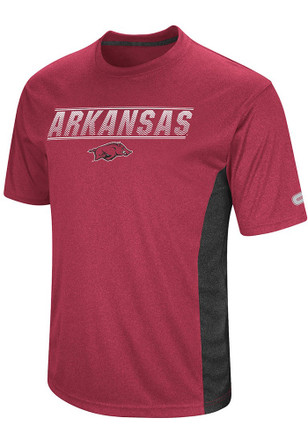 Colosseum Arkansas Razorbacks Mens Cardinal Beamer Tee