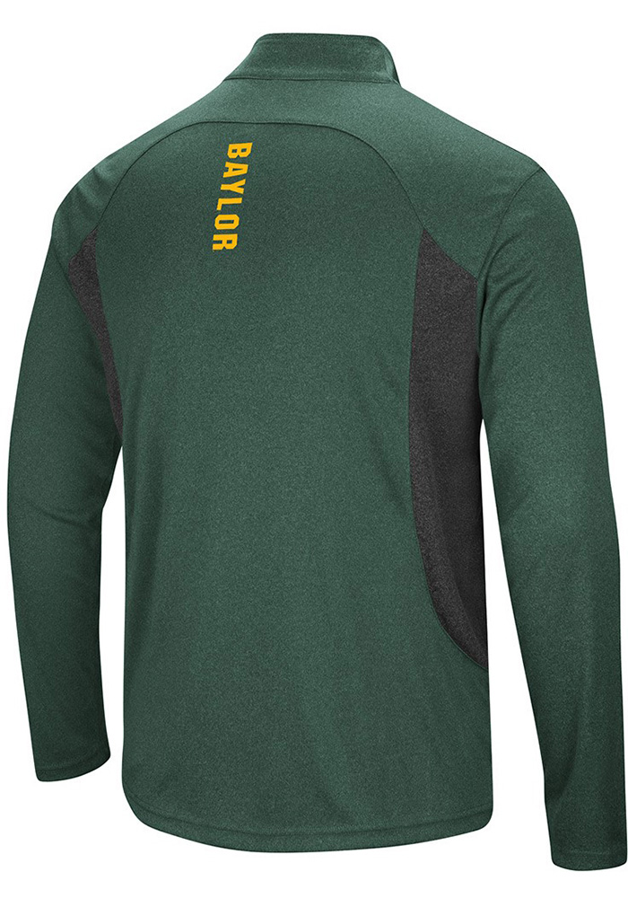 Colosseum Baylor Bears Mens Green Audible Long Sleeve 1/4 Zip Pullover - Image 2