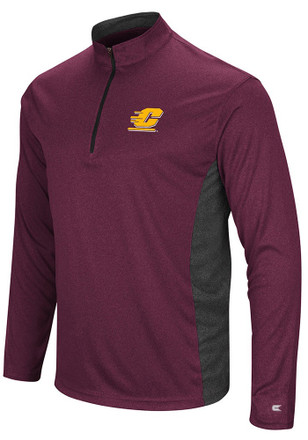 Colosseum Central Michigan Chippewas Mens Maroon Audible 1/4 Zip Pullover