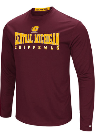 Colosseum Central Michigan Chippewas Mens Maroon Streamer Tee