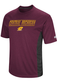 Colosseum Central Michigan Chippewas Maroon Beamer Tee