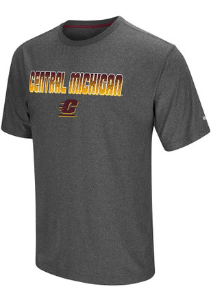 Colosseum Central Michigan Chippewas Mens Grey Sleeper Tee