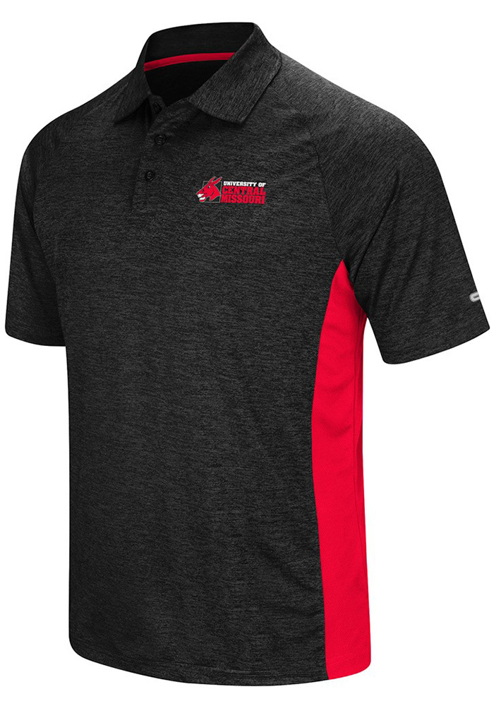 Colosseum Central Missouri Mules Mens Black Wedge Short Sleeve Polo - Image 1