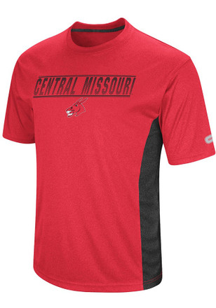 Colosseum Central Missouri Mules Mens Red Beamer Tee