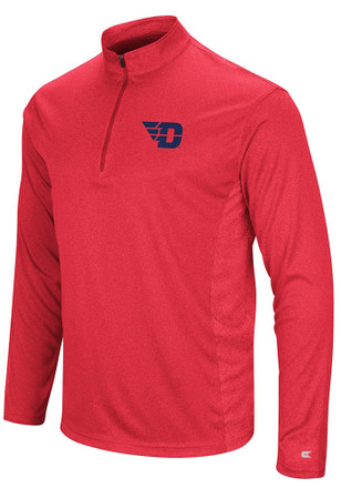 Colosseum Dayton Flyers Mens Red Audible 1/4 Zip Pullover